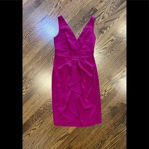 DVF Sleeveless Silk Dress. Ruffle front. Size 10